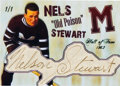 """Hockey Collectibles:Others, 1940's Nels """"Old Poison"""" Stewart Signed Cut Signature Card...."""