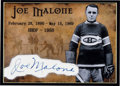 Hockey Collectibles:Others, 1960's Joe Malone Signed Cut Signature Card....
