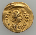 Ancients:Ancient Lots  , Ancients: BYZANTINE. Justin II - Phocas. Lot of two (2) AV tremisses.... (Total: 2 coins)