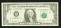 Error Notes:Ink Smears, Fr. 1909-E $1 1977 Federal Reserve Note. Very Fine-Extremely Fine.....