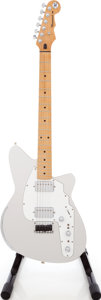 Musical Instruments:Electric Guitars, 2002 Reverend Rocco Brushed Steel and White Solid Body ElectricGuitar, Serial # 02926. ...