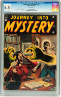 Golden Age (1938-1955):Horror, Journey Into Mystery #1 (Marvel, 1952) CGC FN- 5.5 Off-whitepages....