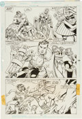Original Comic Art:Panel Pages, Dan Jurgens and Brett Breeding Superman #66 Page 10 OriginalArt (DC, 1992)....