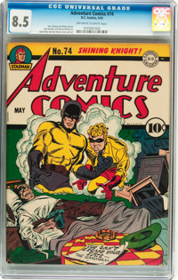 Adventure Comics #74 (DC, 1942) CGC VF+ 8.5 Off-white to white pages