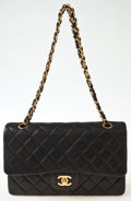Luxury Accessories:Bags, Heritage Vintage: Chanel Black Quilted Lambskin Double Flap Bag. ...