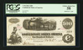 Confederate Notes:1862 Issues, Handwritten Interest Paid T40 $100 1862.. ...