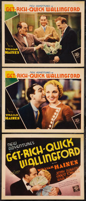 """New Adventures of Get Rich Quick Wallingford (MGM, 1931). Title Lobby Card & Lobby Cards (2) (11"""" X 14""""..."""