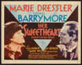"Movie Posters:Comedy, Her Sweetheart, Christopher Bean (MGM, 1933). Title Lobby Card (11""X 14""). Comedy.. ..."