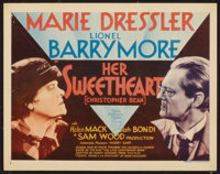 "Her Sweetheart, Christopher Bean (MGM, 1933). Title Lobby Card (11"" X 14""). Comedy"