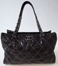 Luxury Accessories:Bags, Heritage Vintage: Chanel Brown Shiny Quilted Leather Tote....