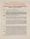 Autographs:Others, 1930 Herb Pennock Signed New York Yankees Uniform Player'sContract....