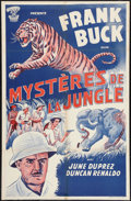 """Movie Posters:Action, Tiger Fangs (CHB Indo Films Afrique, 1940s). Moroccan Poster (27.5""""X 42""""). Action.. ..."""
