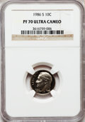 Proof Roosevelt Dimes: , 1986-S 10C PR70 Ultra Cameo NGC. NGC Census: (73). PCGS Population(172). Numismedia Wsl. Price for problem free NGC/PCGS ...