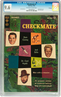 Checkmate #1 File Copy (Gold Key, 1962) CGC NM+ 9.6 Off-white to white pages