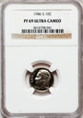 Proof Roosevelt Dimes: , 1986-S 10C PR69 Ultra Cameo NGC. NGC Census: (331/73). PCGSPopulation (2840/172). Numismedia Wsl. Price for problem free ...