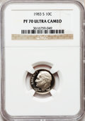 Proof Roosevelt Dimes: , 1983-S 10C PR70 Ultra Cameo NGC. NGC Census: (162). PCGS Population(153). Numismedia Wsl. Price for problem free NGC/PCGS...