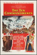 "Movie Posters:Drama, The Ten Commandments (Paramount, 1956). One Sheet (28"" X 42"").Style A. Drama.. ..."