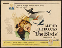 "The Birds (Universal, 1963). Half Sheet (22"" X 28""). Hitchcock"