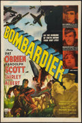 "Movie Posters:War, Bombardier (RKO, 1943). One Sheet (27"" X 41""). War.. ..."