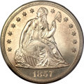 Proof Seated Dollars, 1857 $1 PR63 PCGS....