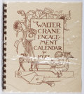 Books:Art & Architecture, Walter Crane. Engagement Calendar for 1977. Green Tiger Press, 1976. First edition, first printing. As new and sealed....