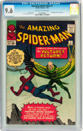 Silver Age (1956-1969):Superhero, The Amazing Spider-Man #7 (Marvel, 1963) CGC NM+ 9.6 Off-white towhite pages....