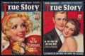 "Movie Posters:Miscellaneous, True Story Magazine (McFadden Publications, 1935 & 1936). Magazines (2) (Multiple Pages, 8.5"" X 11.5""). Miscellaneous.. ... (Total: 2 Items)"