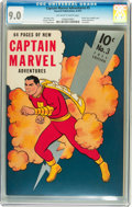 Golden Age (1938-1955):Superhero, Captain Marvel Adventures #3 (Fawcett Publications, 1941) CGC VF/NM 9.0 Off-white to white pages....