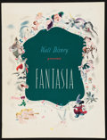 """Movie Posters:Animation, Fantasia (RKO, 1940). Program (Multiple Pages, 9.5"""" X 12.5""""). Animation.. ..."""
