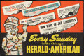 "Movie Posters:Animation, Mickey Mouse Promotion (Chicago Herald-American, 1940s). NewspaperPromotional Poster (24"" X 36""). Animation.. ..."