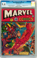 Golden Age (1938-1955):Superhero, Marvel Mystery Comics #31 (Timely, 1942) CGC NM 9.4 Off-white pages....