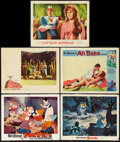 """Movie Posters:Animation, Snow White and the Seven Dwarfs & Others Lot (Buena Vista, R-1967). Lobby Cards (5) (11"""" X 14"""") & One Sheets (4) (27"""" X 41"""")... (Total: 9 Items)"""