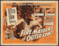 "Movie Posters:Science Fiction, Fire Maidens of Outer Space (Topaz, 1956). Half Sheet (22"" X 28"").Science Fiction.. ..."