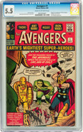 Silver Age (1956-1969):Superhero, The Avengers #1 (Marvel, 1963) CGC FN- 5.5 Cream to off-whitepages....