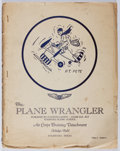 Books:Americana & American History, R. F. Hemphill [editor]. The Plane Wrangler. Vol. I. No. 8.Aviation Cadets, [ca. 1942]. First edition, ...