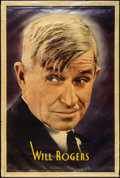 "Movie Posters:Comedy, Will Rogers (Fox, 1935). Personality Poster (40"" X 60""). Comedy....."