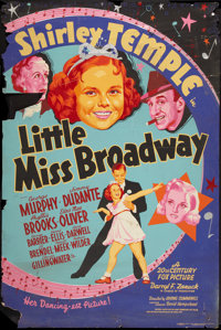 "Little Miss Broadway (20th Century Fox, 1938). Poster (40"" X 60""). Silk Screen Style. Musical"