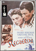 """Movie Posters:Hitchcock, Spellbound (SM Films, R-1982). Spanish One Sheet (27.5"""" X 39""""). Hitchcock.. ..."""