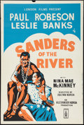 "Sanders of the River & Other Lot (London Films, R-1950s). British One Sheets (2) (27"" X 40""). Adventur..."