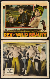 """The Blue Eagle and Other Lot (Fox, 1926). Lobby Cards (2) (11"""" X 14""""). Action. ... (Total: 2 Items)"""