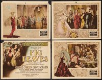 "Fig Leaves (Fox, 1926). Title Lobby Card and Lobby Cards (3) (11"" X 14""). Comedy. ... (Total: 4 Items)"