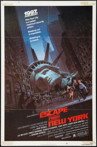 "Escape from New York (Avco Embassy, 1981). One Sheet (27"" X 41""). Science Fiction"