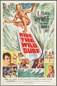 "Ride the Wild Surf (Columbia, 1964). One Sheet (27"" X 41""). Sports"