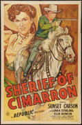 "Movie Posters:Western, Sheriff of Cimarron (Republic, 1945). One Sheet (27"" X 41""). Western.. ..."