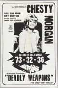 """Movie Posters:Adult, Deadly Weapons (Hallmark, 1974). One Sheet (27"""" X 41""""). Adult.. ..."""