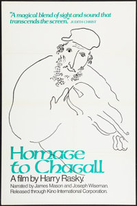 """Homage to Chagall: The Colours of Love (Kino International, 1977). One Sheet (27"""" X 41""""). Documentary"""