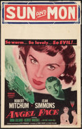 "Angel Face (RKO, 1952). Window Card (14"" X 22""). Film Noir"