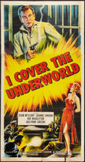 "Movie Posters:Crime, I Cover the Underworld (Republic, 1955). Three Sheet (41"" X 77"").Crime.. ..."