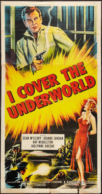 "I Cover the Underworld (Republic, 1955). Three Sheet (41"" X 77""). Crime"