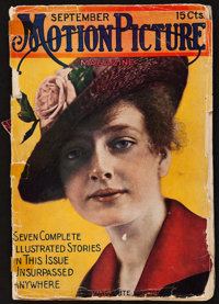 "Motion Picture Magazine (M.P. Publishing Co., September, 1915). Magazine (186 Pages, 7"" X 10""). Miscellaneous..."